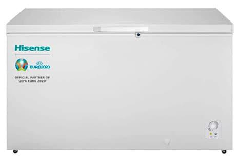 Congelador Arcón Horizontal de la marca Hisense de al menos 400 litros