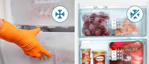 Comodidad al abrir cajones del congelador