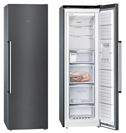 Congelador Vertical No Frost de Acero Inoxidable de la marca Siemens