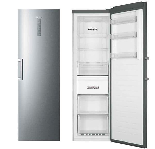Congelador Haier gris plateado vertical
