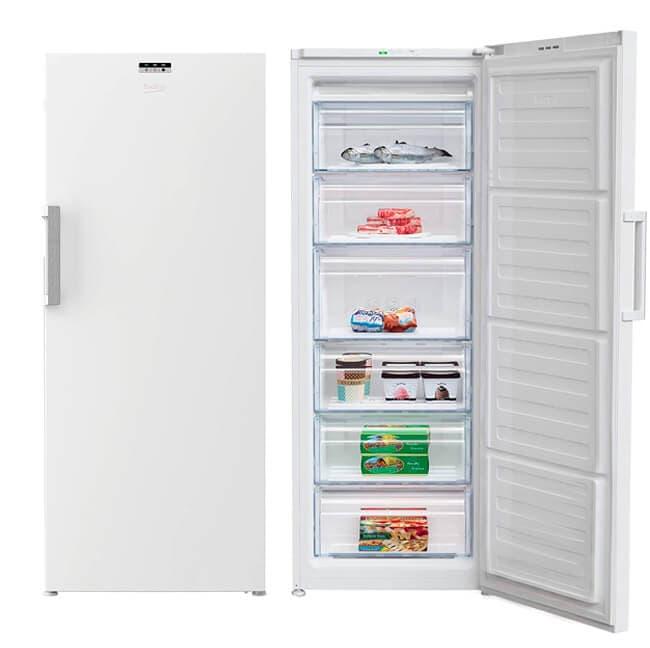 Congelador independiente Beko con 6 cajones