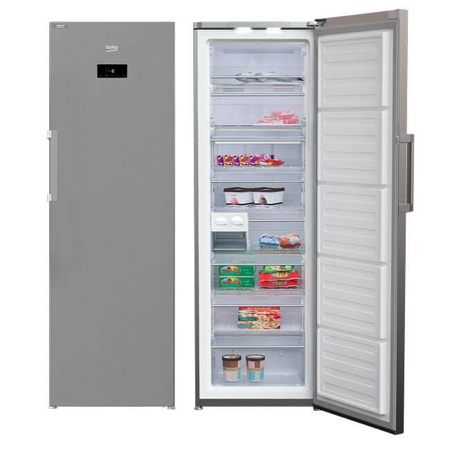 Congelador Beko con control frontal display electrónico