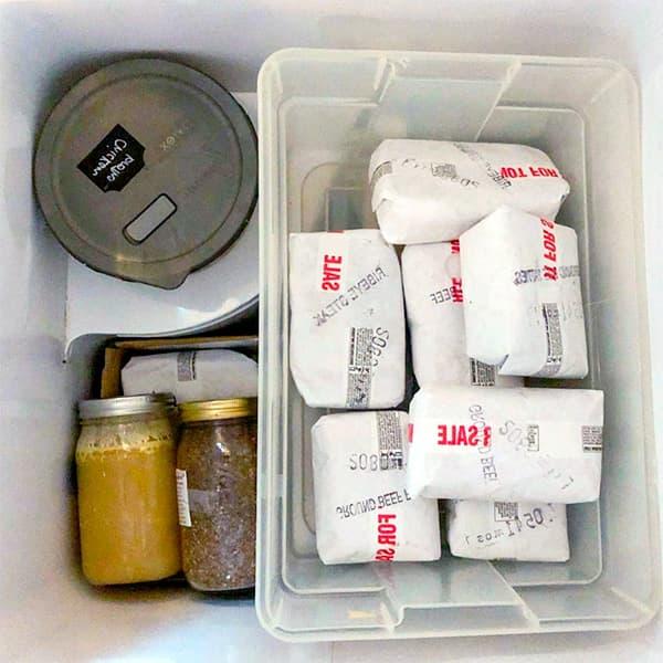 Nivel 2 de organización del arcón congelador
